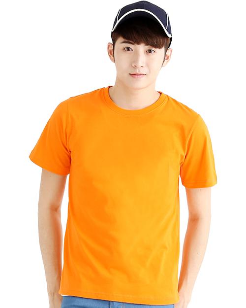 T恤純棉中性版圓領短袖 橘色