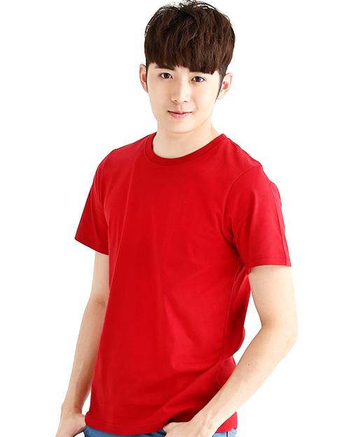T恤純棉中性版圓領短袖 紅色
