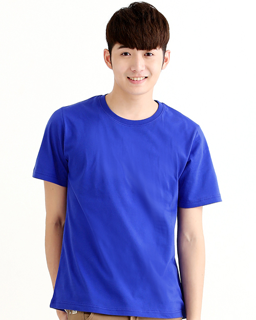T恤純棉中性版圓領短袖 寶藍