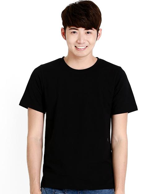T恤純棉中性版圓領短袖 黑色