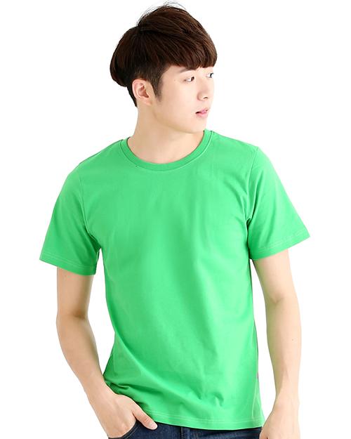 T恤純棉中性版圓領短袖 果綠