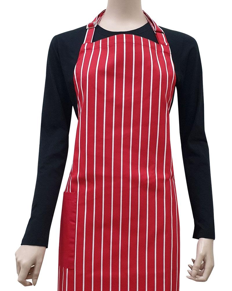 井式圍裙 條紋圍裙