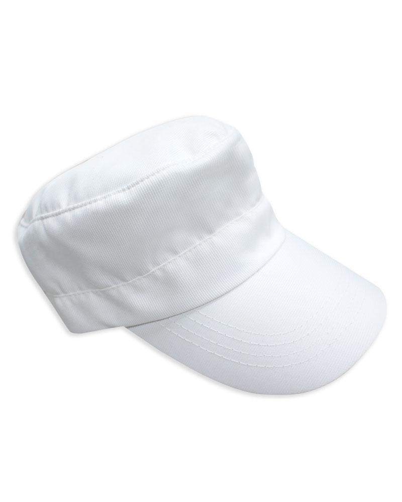 素面軍帽 訂製款 白