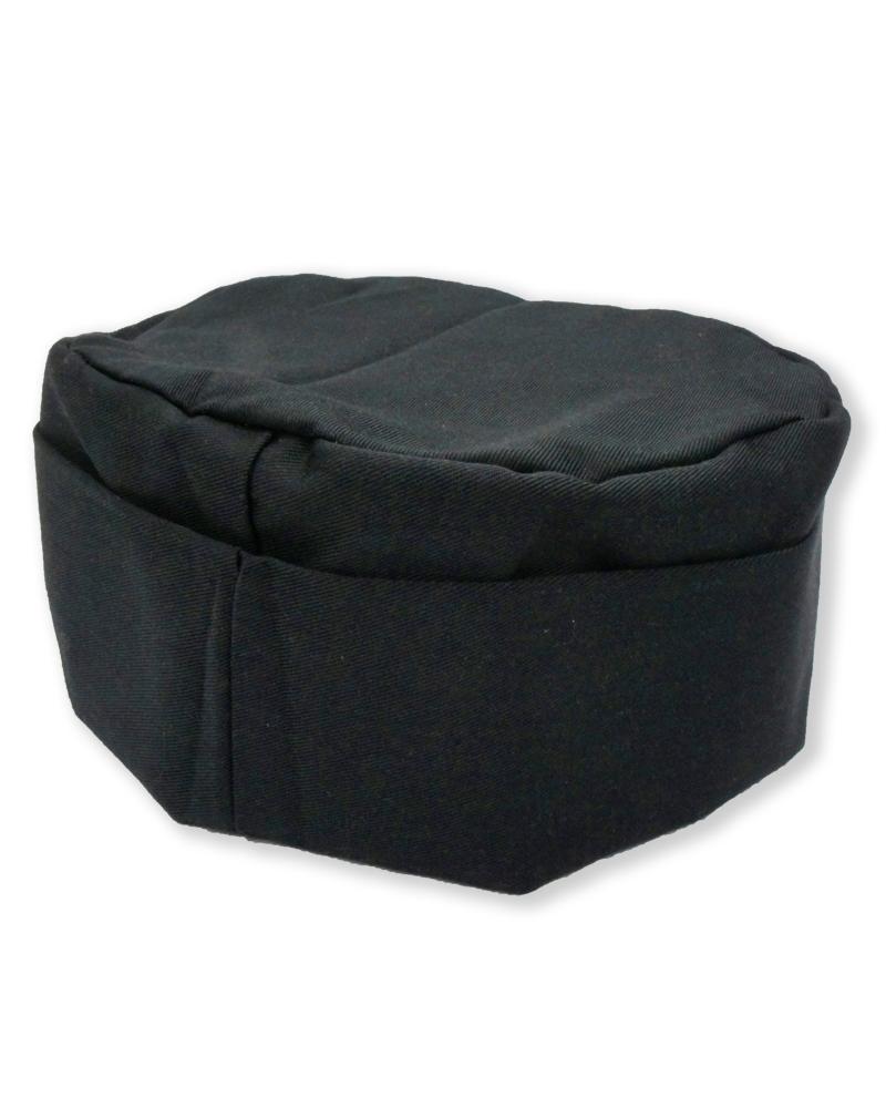 廚師帽 半高帽 黑色