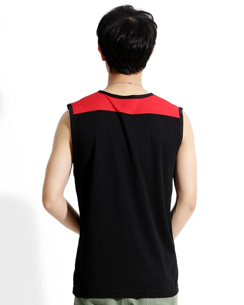 背心 訂製款 運動風 黑紅白 中性 TCANB-A00-00188