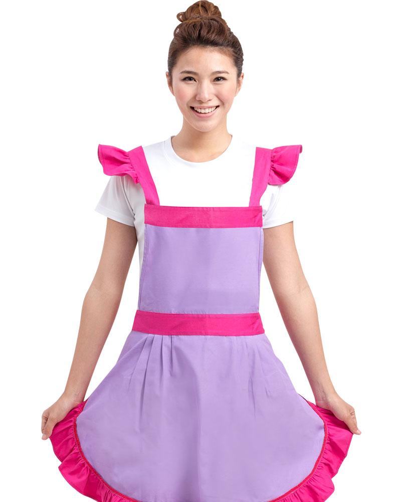 烘培圍裙 荷花邊圍裙