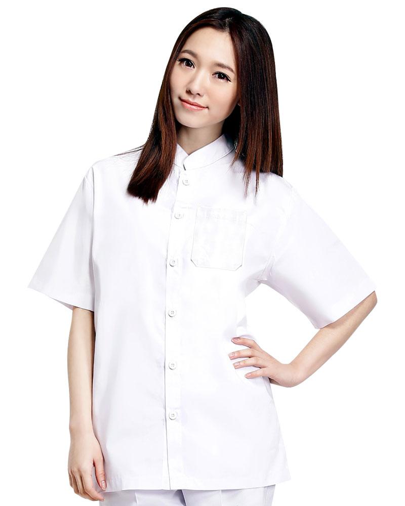 廚師服 單排釦 短袖