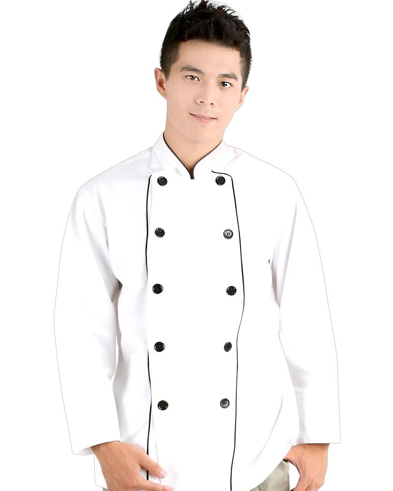 廚師服 雙排釦 出芽
