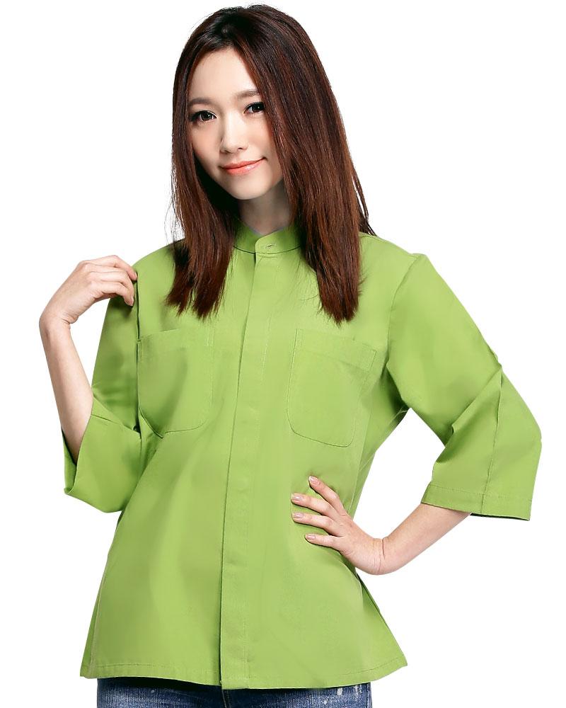 港式餐飲服 長袖 綠