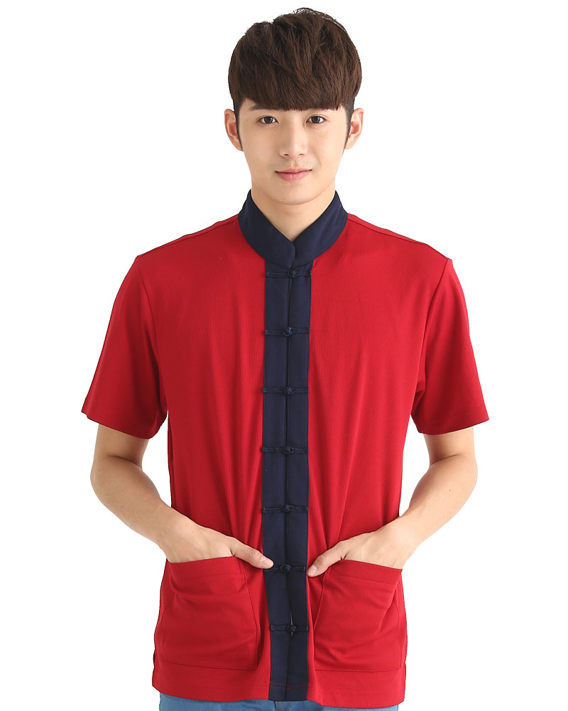 港式餐飲服 短袖 紅