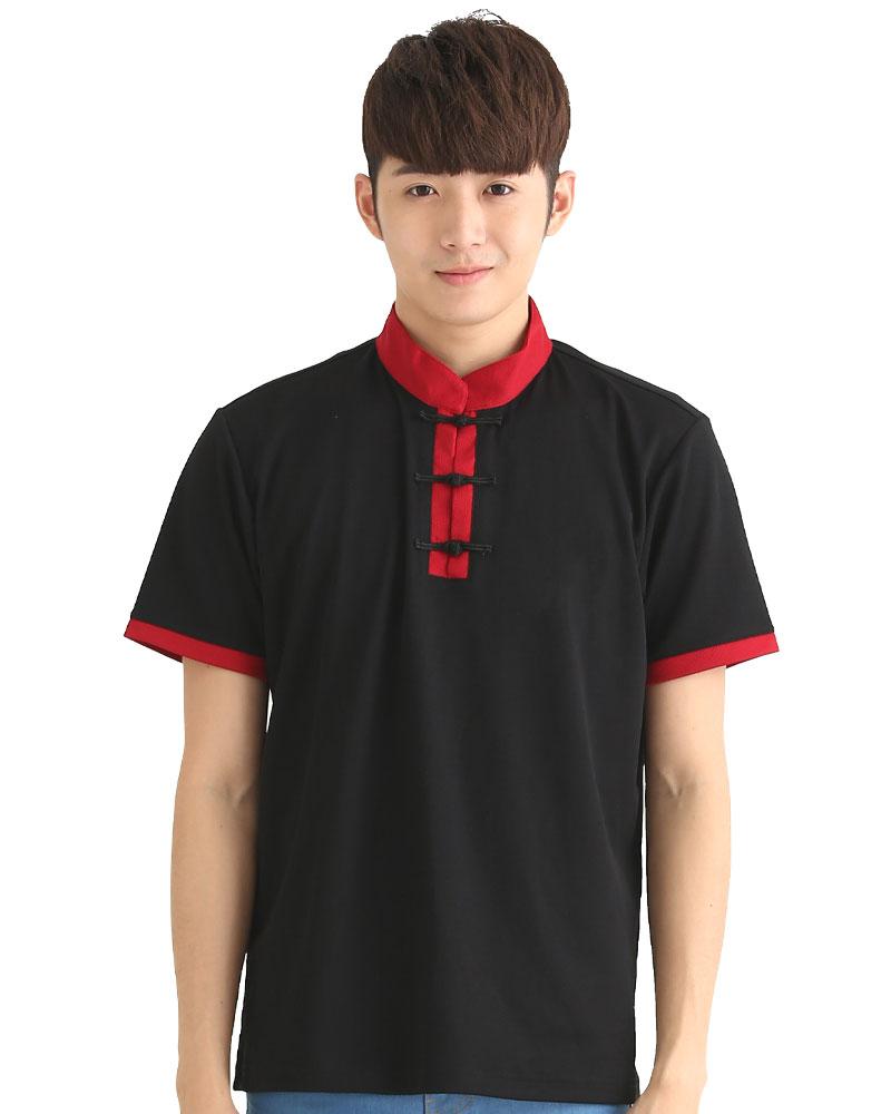 港式餐飲服 短袖 黑