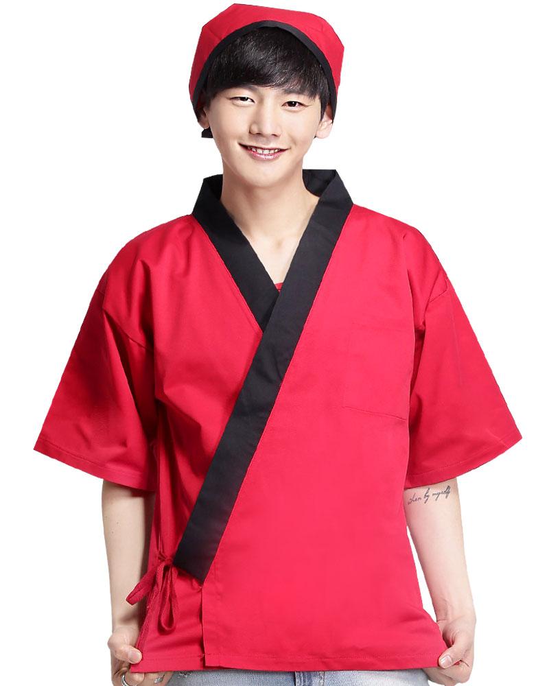 日式和服 紅/黑 無
