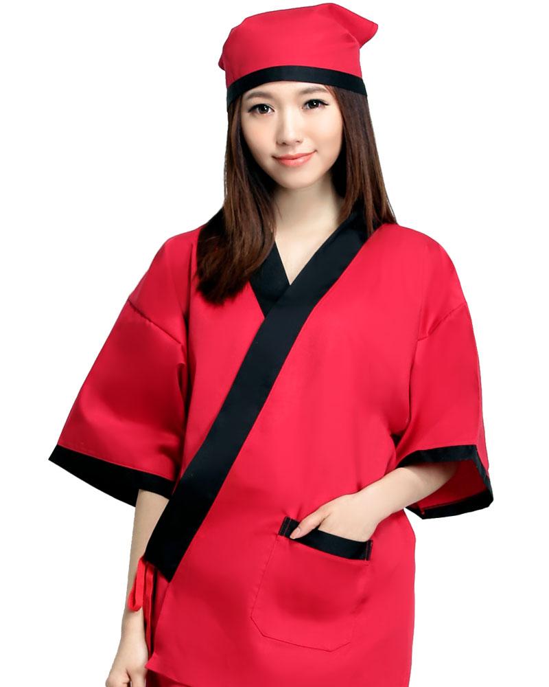 日式和服 紅/黑 有
