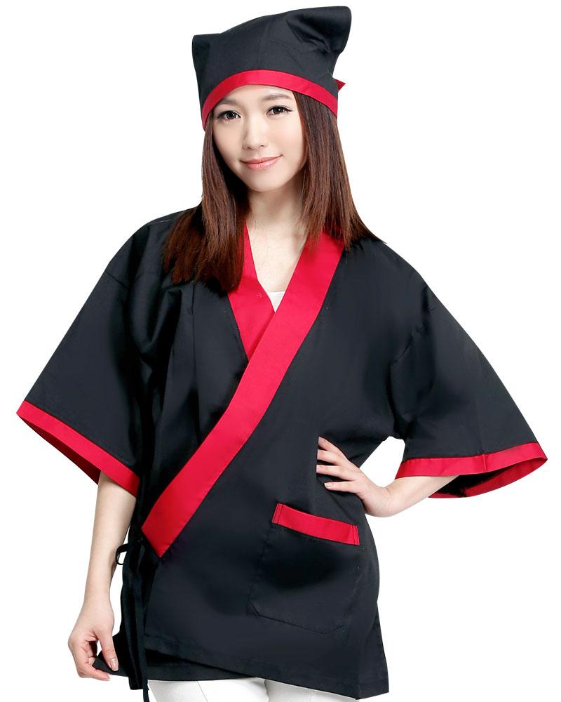 日式和服 黑/紅CC