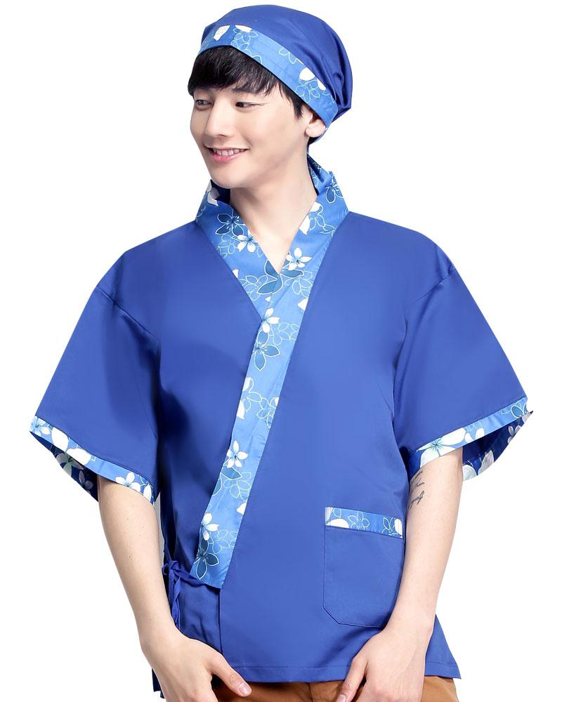 日式和服 花布/寶藍