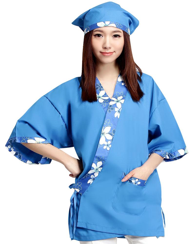 日式和服 花布/翠藍