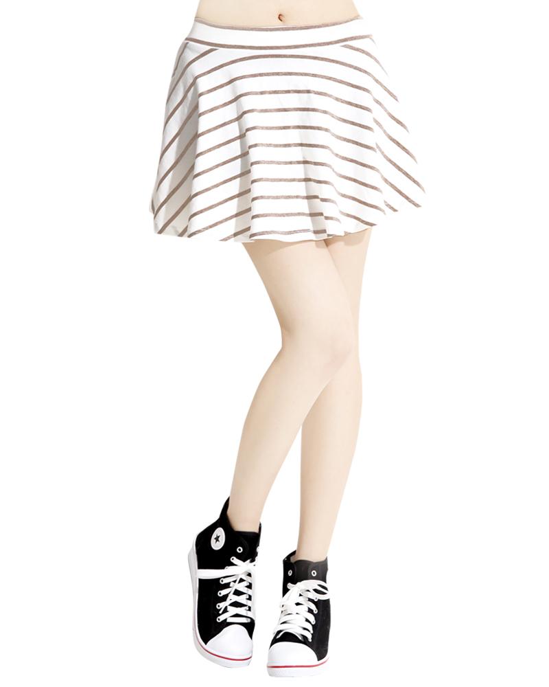短褲裙 條紋短裙 白