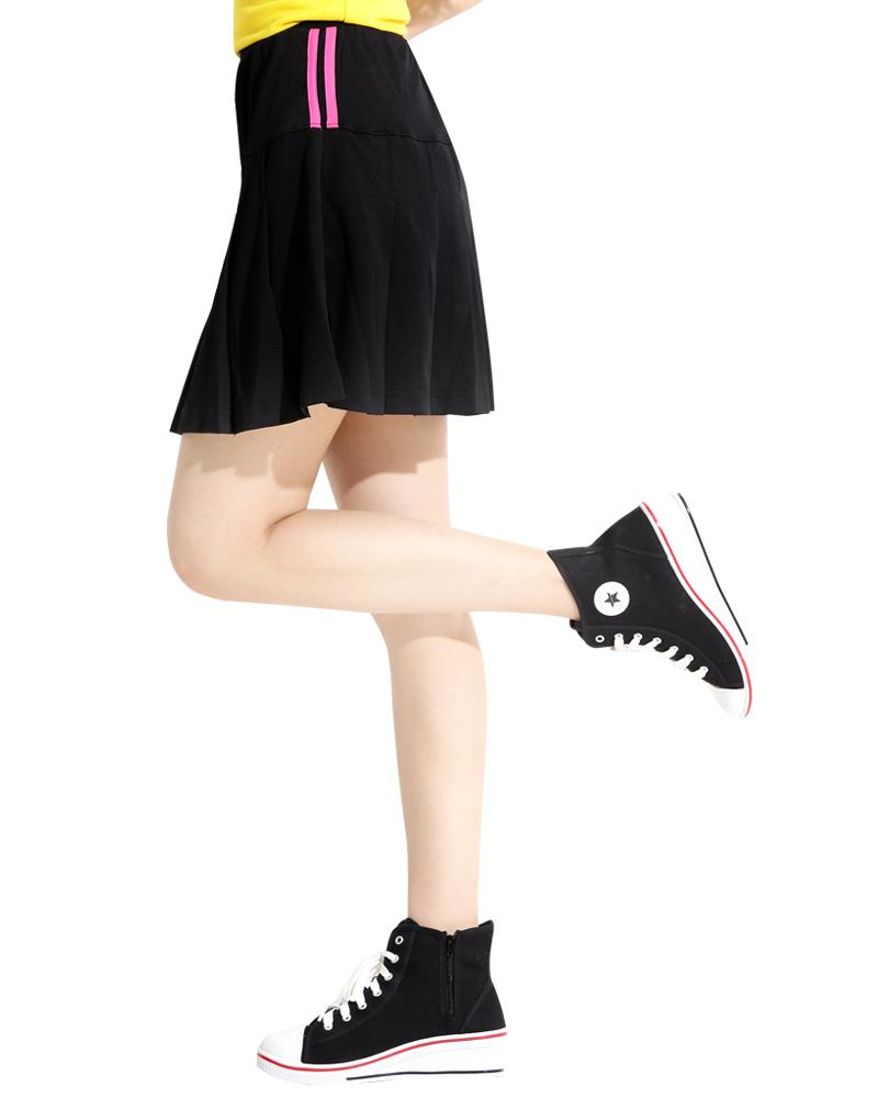 網球裙 百褶裙 黑S