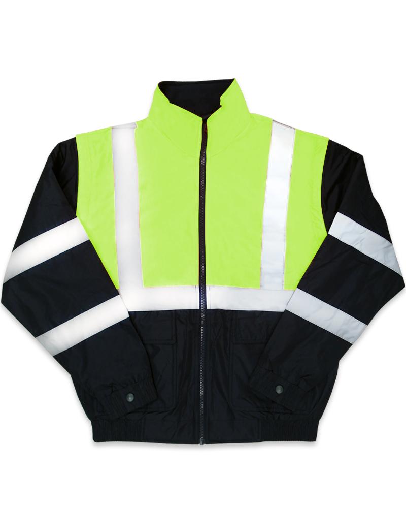 螢光黃反光脫袖夾克C