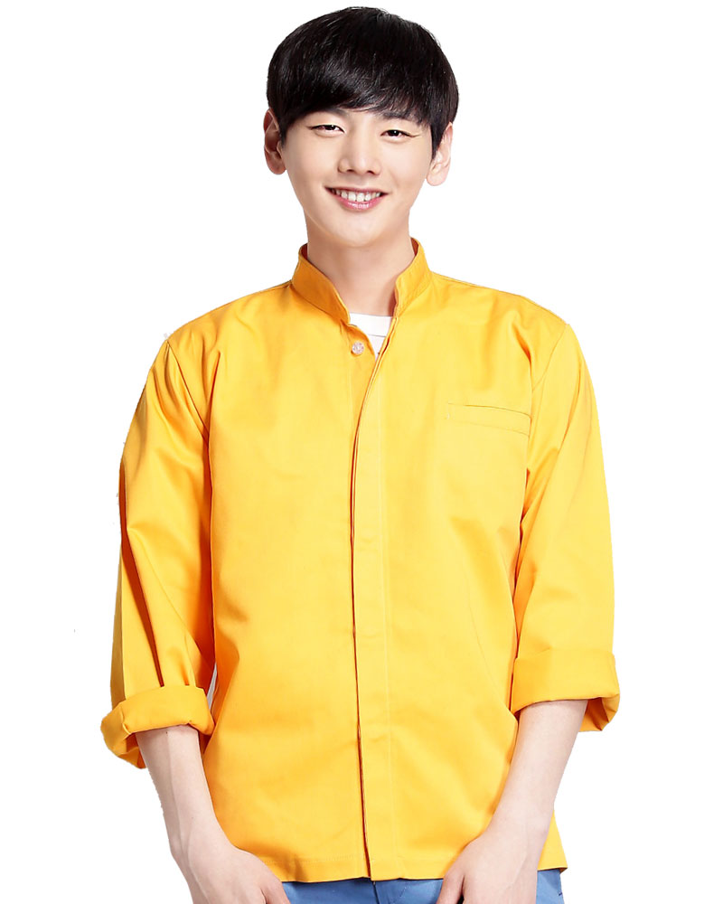 工作服長袖訂製款-黃