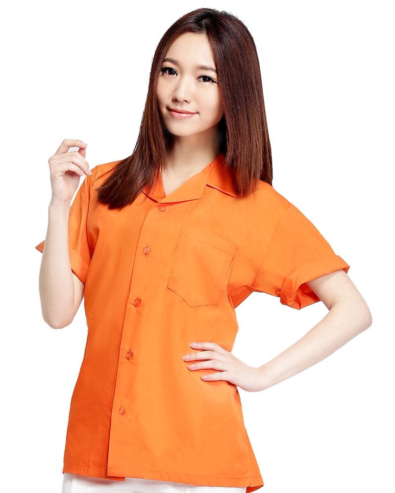 工作服短袖訂製款-桔