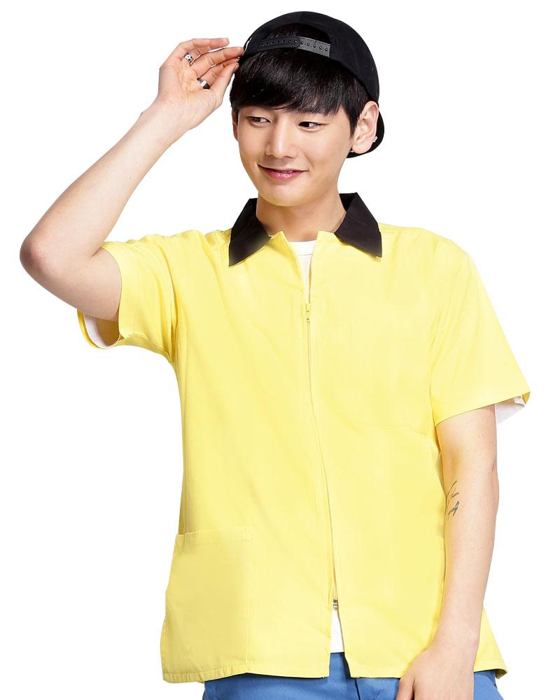 工作服短袖訂製款-黃