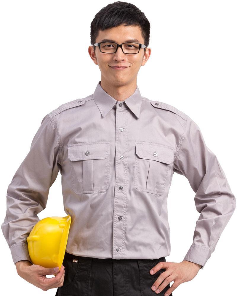 工作服長袖訂製款-淺