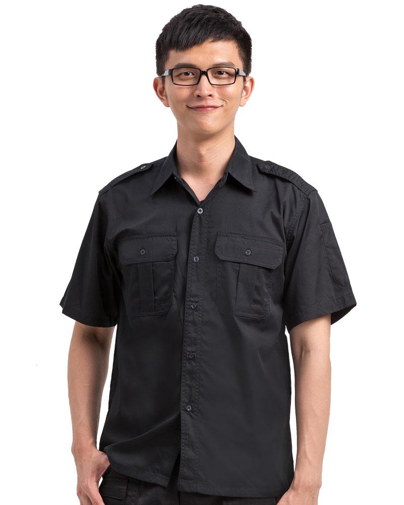 工作服短袖訂製款-黑