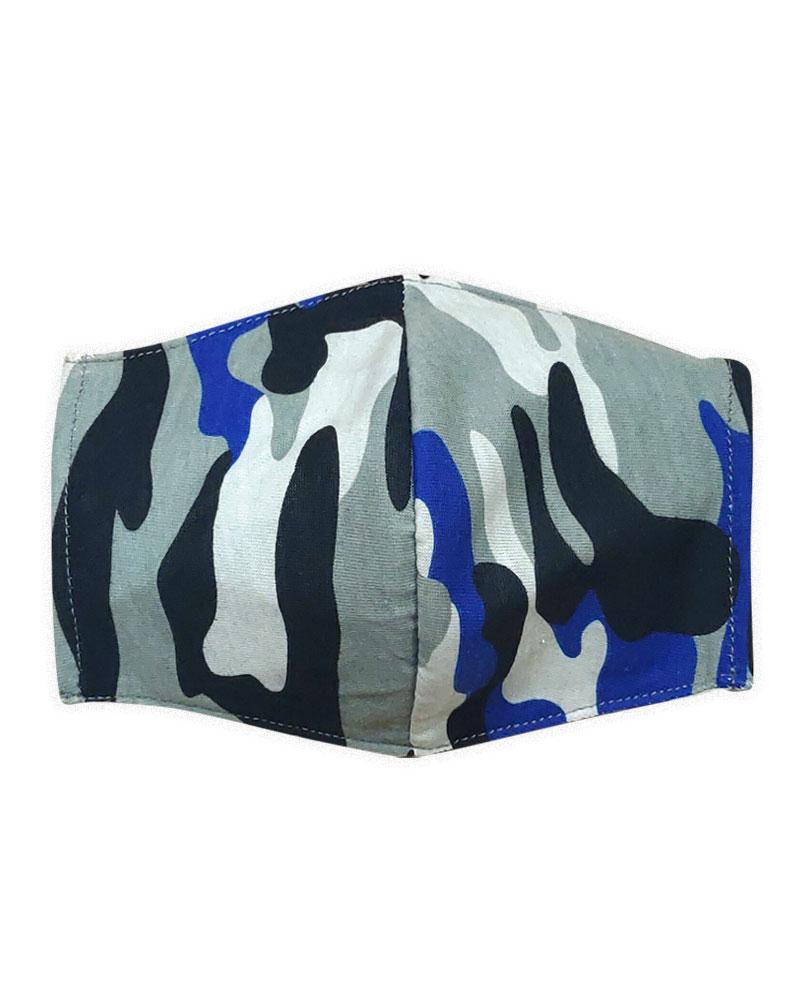防塵口罩套-迷彩寶藍