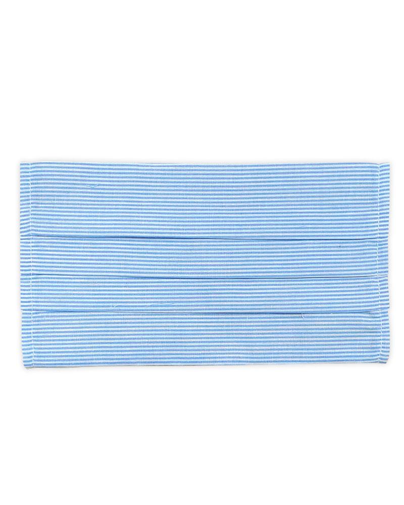 防塵口罩套-藍白條紋
