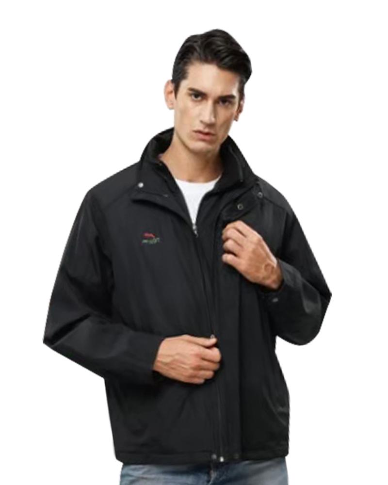 三層夾克二件式 黑藍