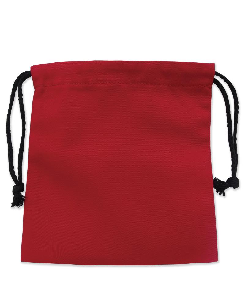 帆布 小束口袋 紅B