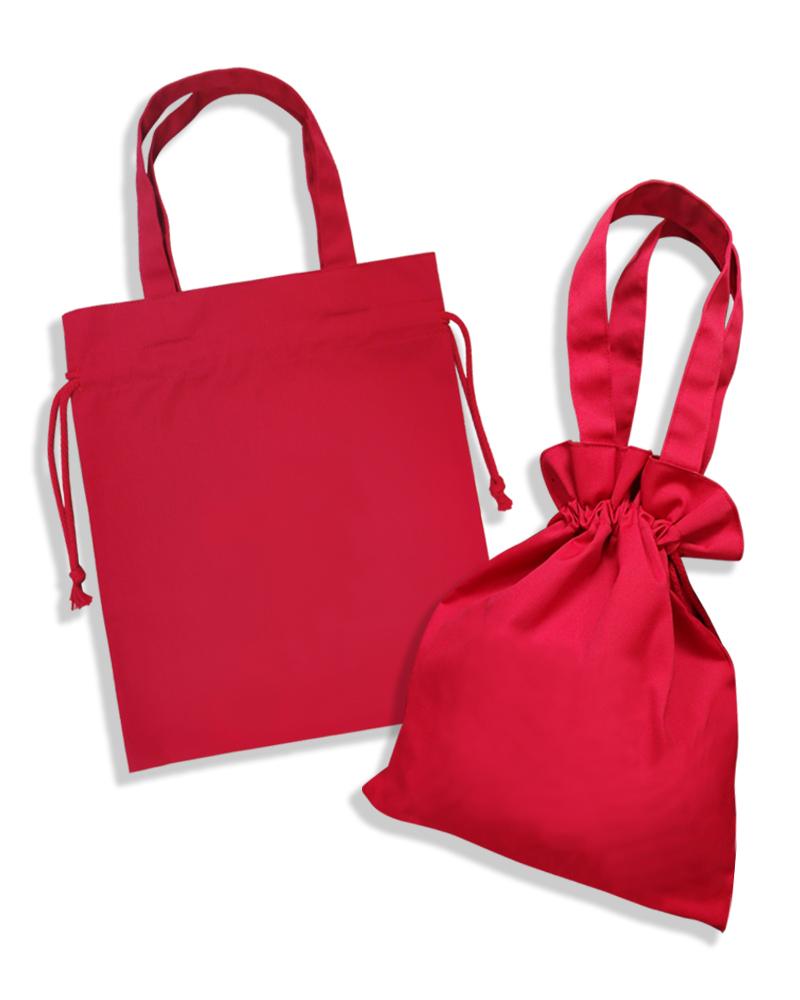 手提式 束口袋 紅B