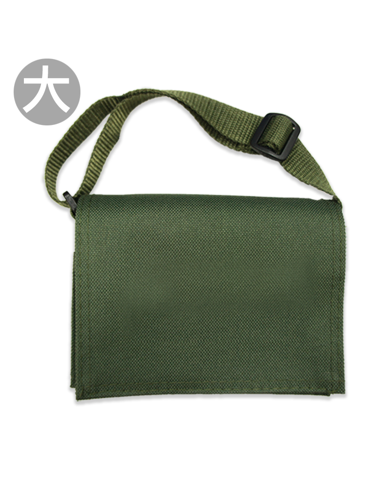 斜背包大書包訂製-綠