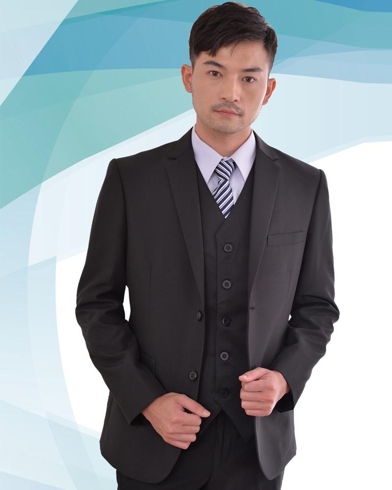 男西裝外套 黑色素面