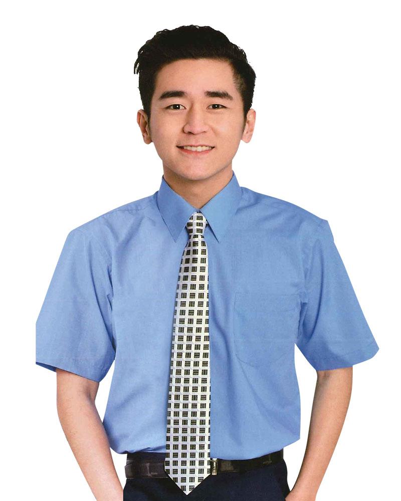 男襯衫 長袖襯衫 短袖襯衫 天空藍 LD-903 #P.49
