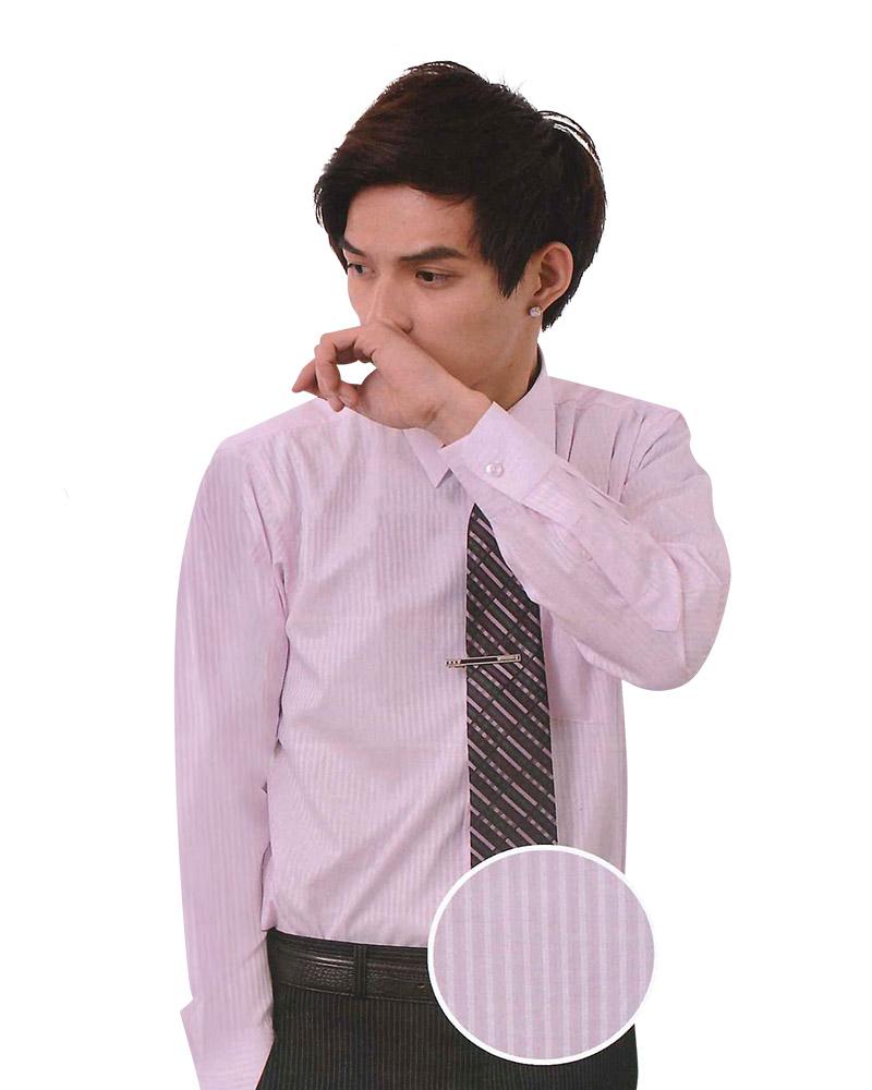 男襯衫 長袖襯衫 短袖襯衫 粉色暗紋 A-8506-2 #P.51