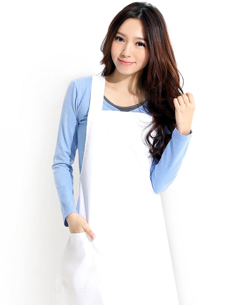 日式防潑水圍裙 白色