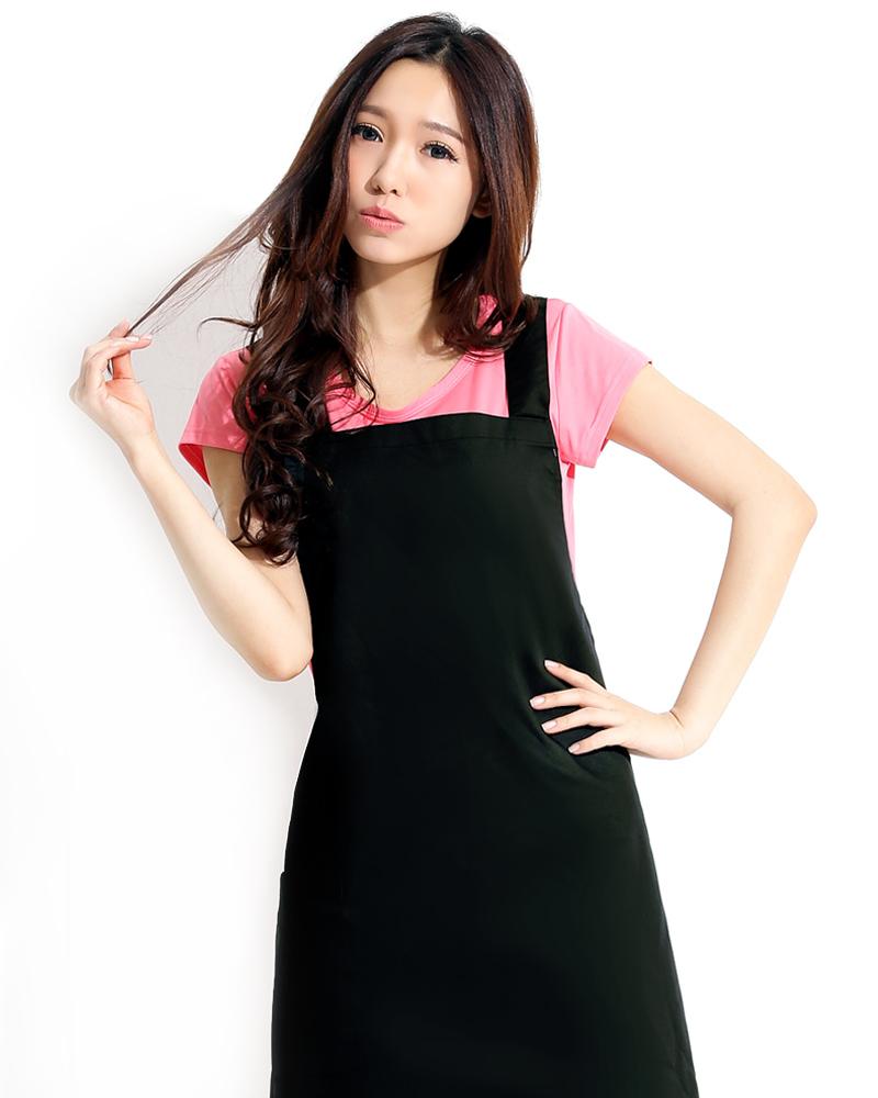 日式防潑水圍裙 黑色