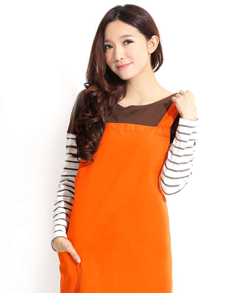 日式防潑水圍裙 桔色